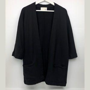 Aritzia Wilfred Black Zlata Sweater Cardigan
